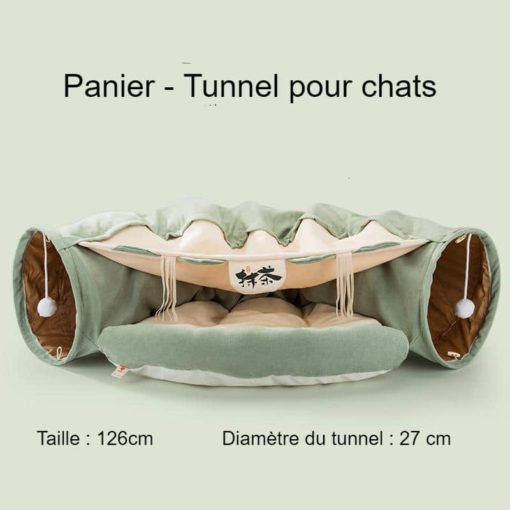 Panier tunnel pour chats - dimensions
