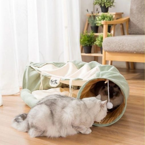 Couchage tunnel pour chat