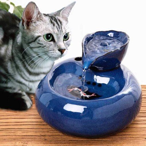Fontaine à eau céramique chats