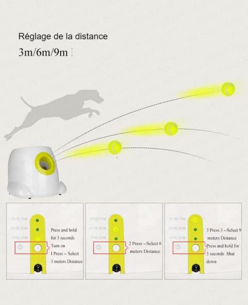 Lanceur de balles automatique - Réglages