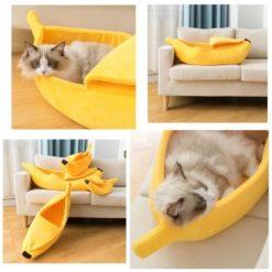 Niche pour chat ou petit chien forme banane