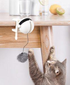 Balle interactive pour chats à suspendre