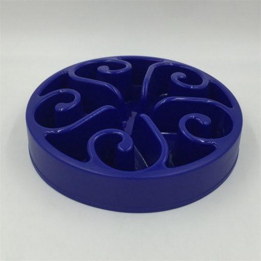 Gamelle anti-glouton plastique bleu foncé