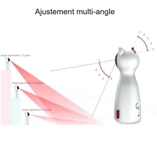 Jouet laser automatique pour chat