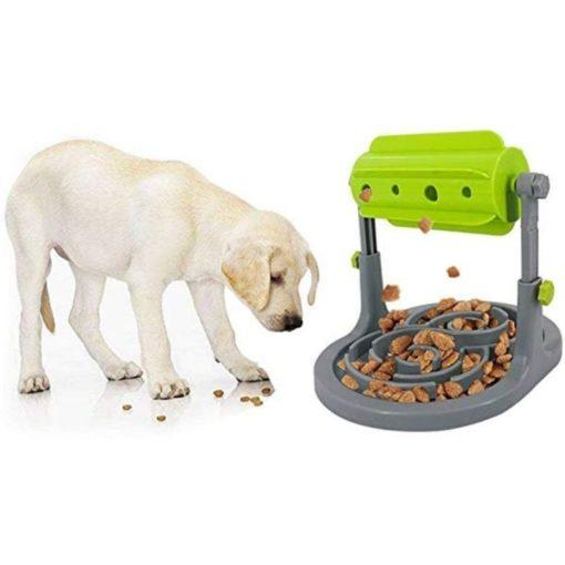 Distributeur de nourriture pour chiens et chats, alimentation lente