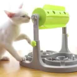 Distributeur alimentation lente chat