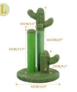 Arbre à chat cactus - Vert - Dimensions