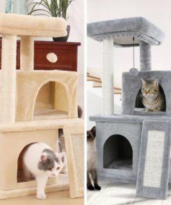 Arbre à chat fourrure et sisal - AMT0014